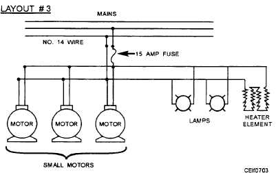 several motors or loads on one branch circuit rh constructionmanuals tpub com Sizing Electric Branch Circuits Sizing Electric Branch Circuits
