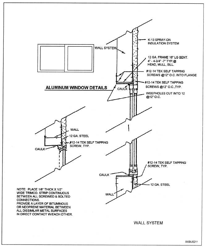 Aluminum Window Construction : Figure aluminum window installation