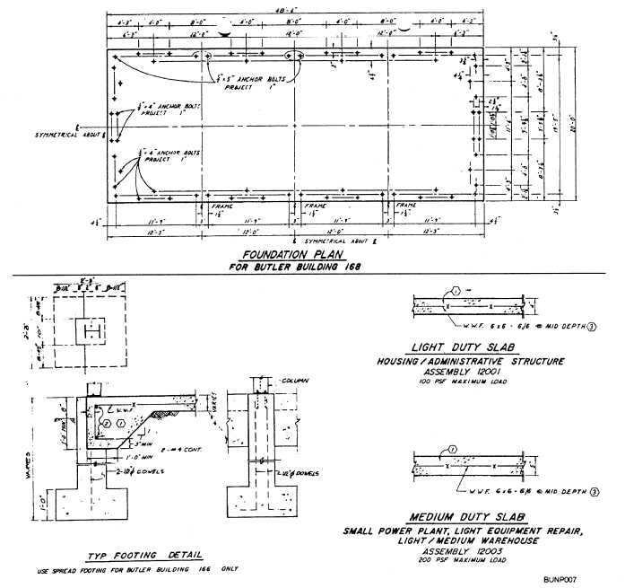 Figure 2 7 foundation plan with detail drawings for Foundation plan drawing