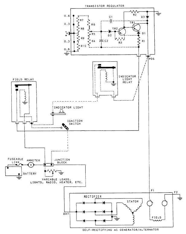 Figure 44 Typical Wiring Diagram Transistor Regulator