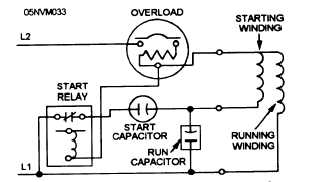 schematic wiring diagram of a capacitor-start capacitor-run motor