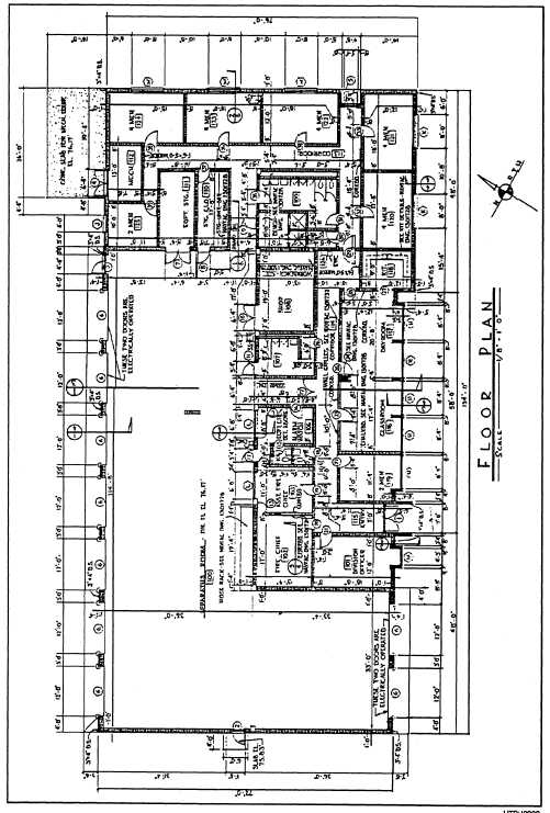 Figure 1 2 architectural or floor plan of concrete for Concrete home floor plans